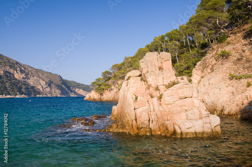 beautiful wild costline of Costa Brava, Spain