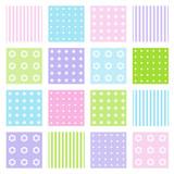 Fototapety Set of seamless patterns
