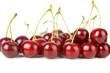 ripe cherries isolated