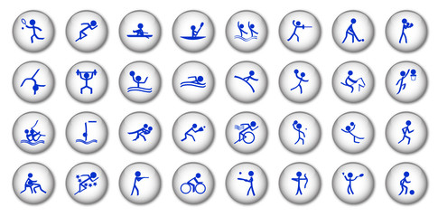 Sports Buttons (x32 - white)