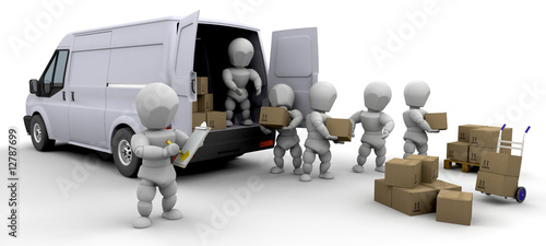 3D removal van and men