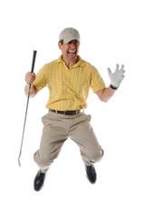 Golfer jumpinp