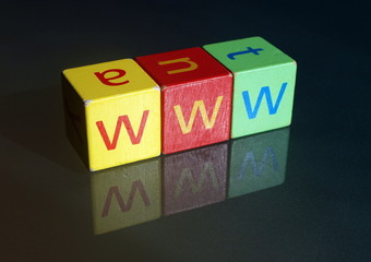"""www"" (wooden blocks)"