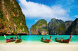 canvas print picture - Tropical beach, Maya Bay, Thailand