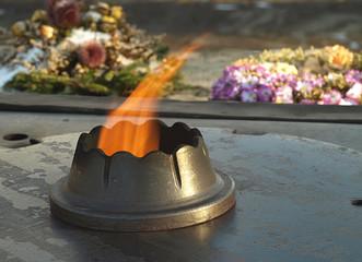 Eternal flame - 2nd World War memorial in Riga