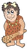 Cartoon prehistoric man poster