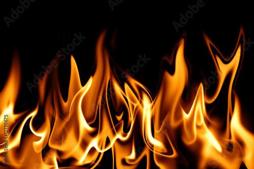 Foto op Canvas Vlam Feuer