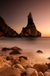 magic sunset in ursa beach near cape roca in portuguese coastlin