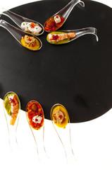 Délicieux apéritifs façon cuisine créative.