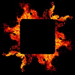 fire frame abstract background