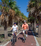 Active Seniors on Bikes poster