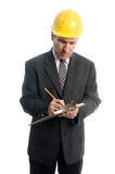 contractor builder architect planner writing business estimate poster