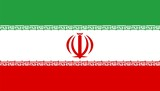 Iran national flag. Illustration on white background