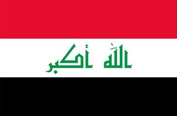 Iraq national flag. Illustration on white background