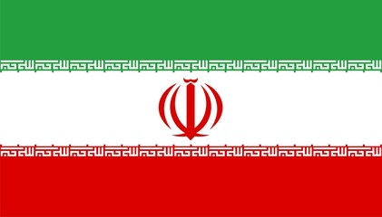 Iran national flag. Illustration on white background