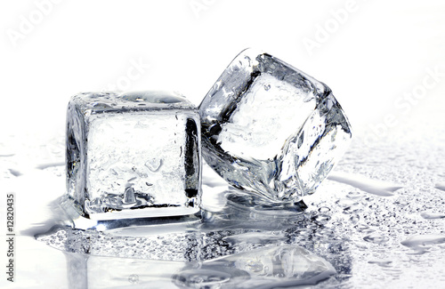 Melting ice cubes - 12820435