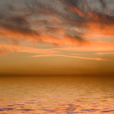 Sundown and sea poster