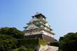 Osaka castle in Osaka city (Tenshu-kaku), Japan