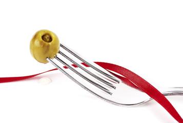 Tenedor oliva cinta