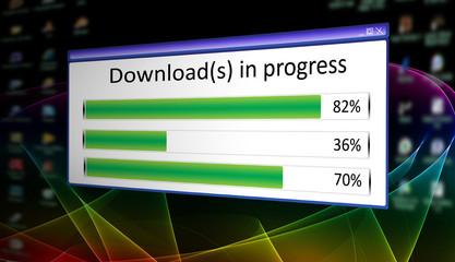 Downloads in progress - 2