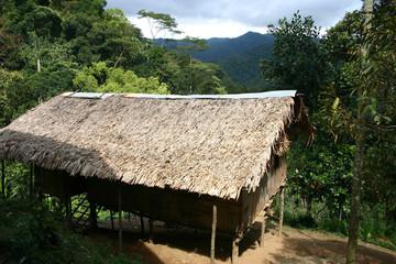 Orang Asli Dorf in Malaysia