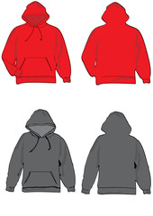 Hooded realistic sweatshirt