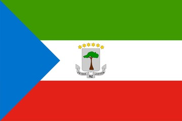 Flag of Equatorial Guinea. Illustration over white background