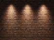 Leinwandbild Motiv Brick wall