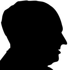 profil d'homme mûr