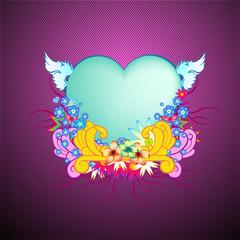 elegant floral frame