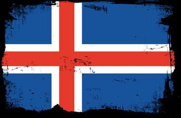 grunge flag - iceland
