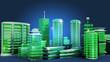 Ville 3d verte écologique