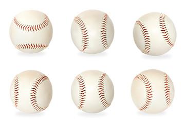 Base balls isolated on white background