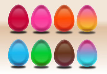 Colorful easter eggs ideal for all design purposes.