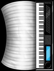 Tastiera e Spartito-Keyboard-Clavier et partition