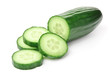 Cucumber on White - 12854880