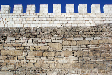 Stone wall in Bursa