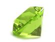 Green gemstone isolated on white background