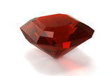Garnet gemstone isolated on white background