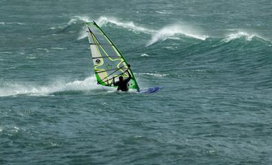 planche dans le vent