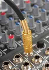 Audio cable with golden jack and control console