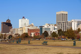 Memphis skyline from Tom Lee park, Tennessee poster
