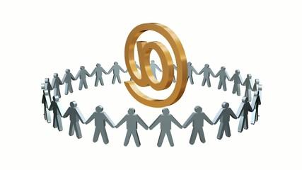 Human Circle E-mail At sign Animation Loop HD1080