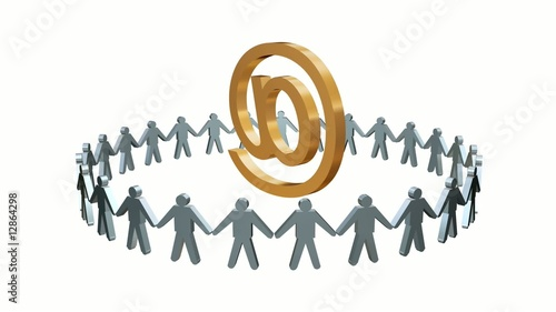 Human Circle E-mail At sign Animation Loop HD1080