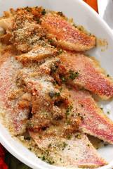 Acciughe e triglie al forno - Secondi di pesce della toscana