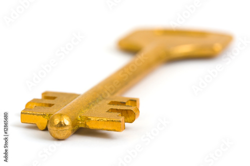 Retro gold key