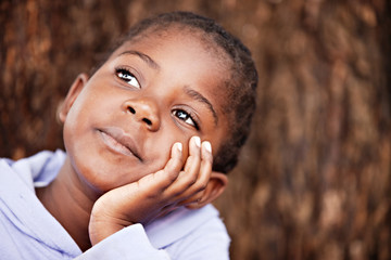 dreamy african child