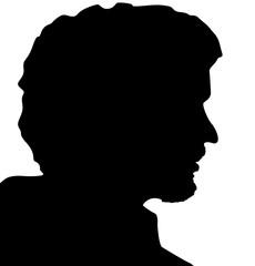 profil d'homme au bouc et à la moustache