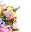 Bunch of flowers, copy space, isolated
