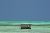 Local boat at Zanzibar beaches poster